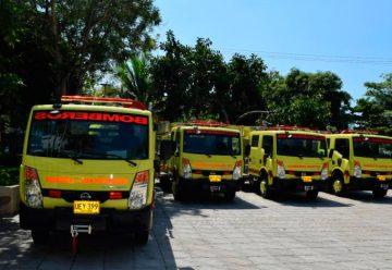 12 carros nuevos de bomberos para los municipios de Bolívar