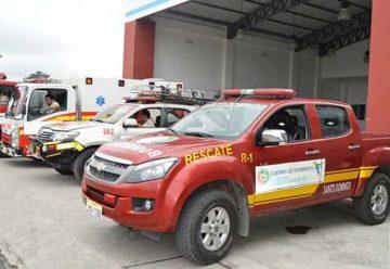 Bomberos de Santo Domingo de los Tsáchilas en  proceso de reestructuración