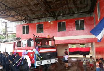 El Rama inaugura nueva estación de bomberos