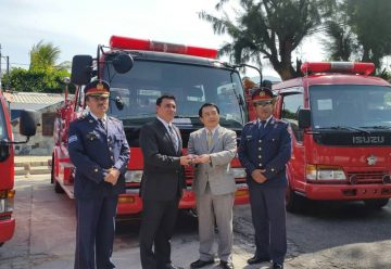 Gobierno de Japón realiza donativo al cuerpo de bomberos salvadoreño