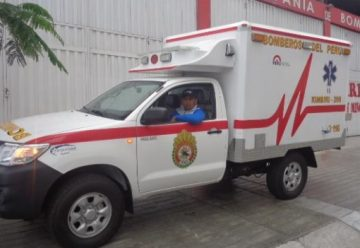 Entregan moderna ambulancia a Compañía de Bomberos del Vraem