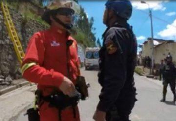 Policías y bomberos se enfrentaron durante un simulacro de rescate