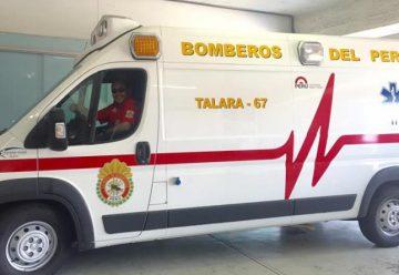 Bomberos de Talara reciben moderna ambulancia