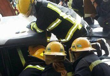 Bomberos Voluntarios realizaron entrenamiento de rescate