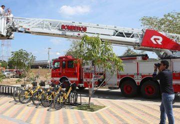 Bomberos, con nueva máquina para atender emergencias en alturas