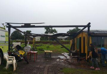 El cuartel de Bomberos de Posadas con graves daños por temporal