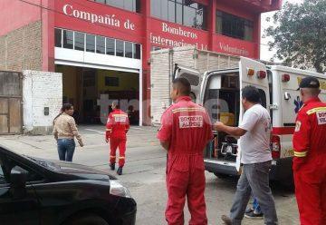 Delincuentes roban desfibrilador de ambulancia de los Bomberos