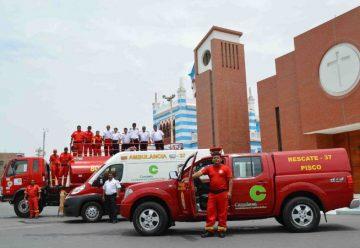 Pluspetrol entregó tres vehículos a los bomberos de Pisco