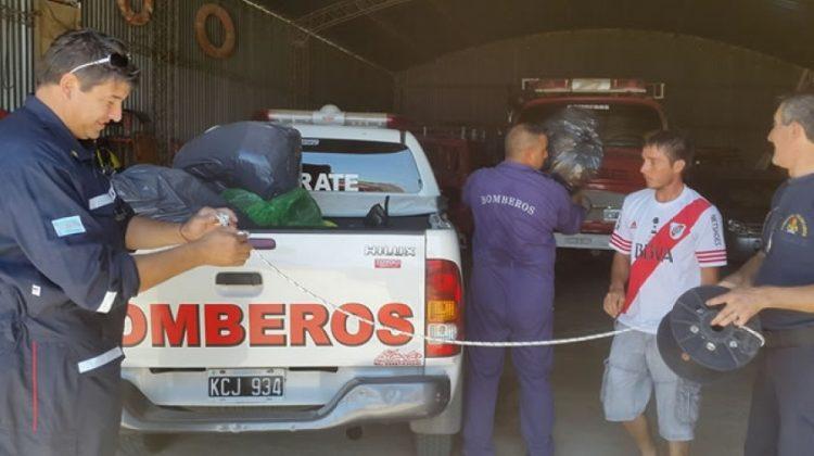 Bomberos Voluntarios de Zarate solidarios con Ibicuy