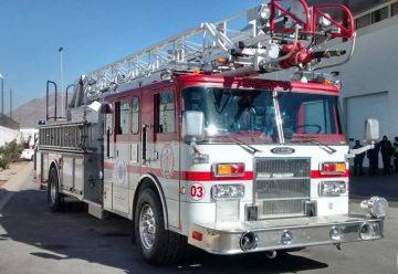 Donan máquina extintora a Bomberos de Ciudad Juárez
