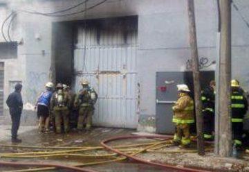 Incendio en fábrica textil de San Martín