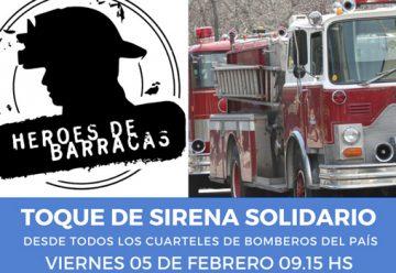 Toque de Sirena en memoria de los Héroes de Barracas