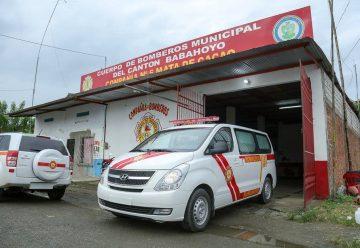 Cuerpo de Bomberos de Mata de Cacao recibe nueva ambulancia
