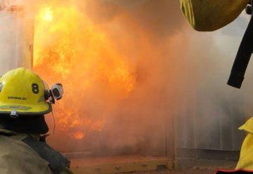Capacitación en incendios Estructurales en Bomberos de Pérez