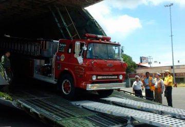 EEUU dona unidad a bomberos voluntarios de León
