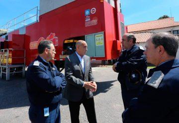 Cooperacion entre Bomberos y la Fuerza Aérea Argentina