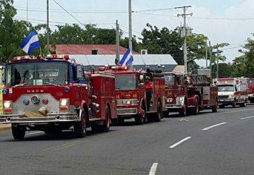 Bomberos de Managua celebraron el 80 aniversario