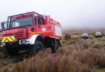 Nuevo vehículo de bomberos de Quito para incendios forestales