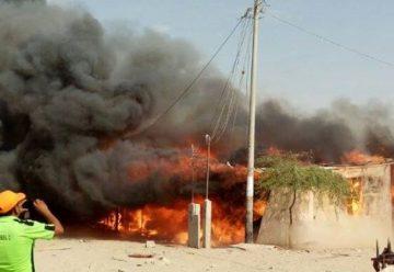 Incendio redujo a cenizas 140 casas del asentamiento San Borja