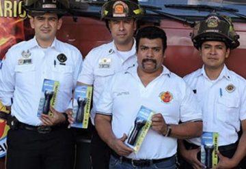 Cuerpo de Bomberos Voluntarios recibe donación de linternas
