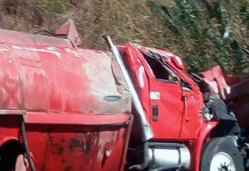 Volcó camión de los Bomberos de Aragua