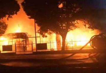 Incendio destruyó jardín infantil en Capitán Pastene
