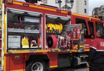 Nuevo camión de bomberos para el centro de Cartagena