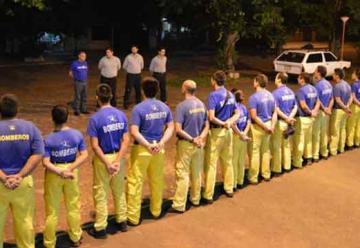 Instructores ANB realizan capacitación a bomberos paraguayos