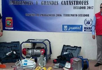 Bomberos se capacita y recibe donación para rescates