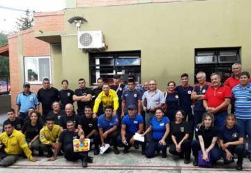 Capacitación sobre incendios forestales en Merlo