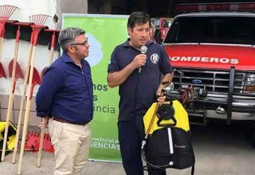 Nuevos equipos para los bomberos de Algarrobo y Buratovich