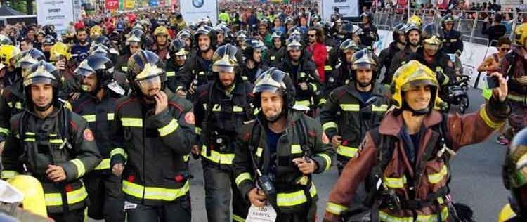 Bomberos vuelven a correr por las calles de Barcelona