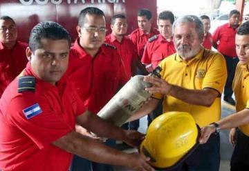 Bomberos recibió valiosa donación de Costa Rica