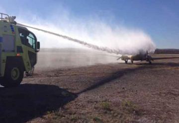 Capacitación en extinción de incendio en Aeronaves