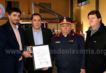 Distinción del Senado Bonaerense a Bomberos Voluntarios de Olavarría