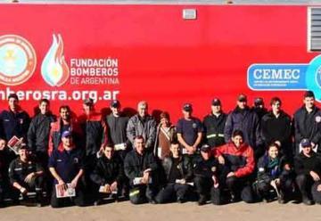 Capacitaciones de bomberos en el CEMEC en La Pampa