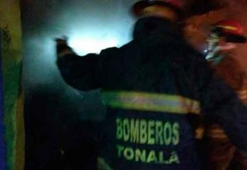 Tres bomberos de Tonalá resultan lesionados en incendio