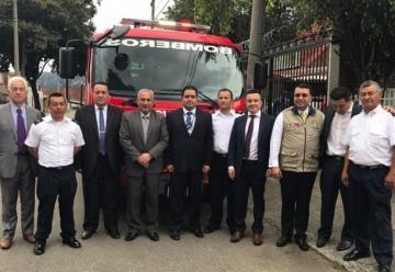 Cuerpo de Bomberos de Túquerres recibió moderna máquina