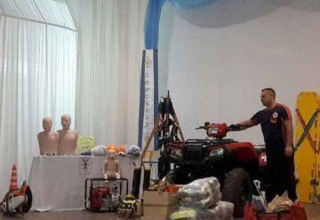 Bomberos Voluntarios de Concarán presentaron el nuevo equipamiento