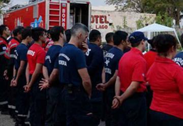 Bomberos Voluntarios se capacitaron en el Centro de Entrenamiento Móvil