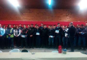 Bomberos de la Policía del Neuquén realizó una capacitación