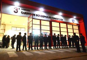 3ra Compañía de Bomberos de Concepción inaugura nuevo cuartel