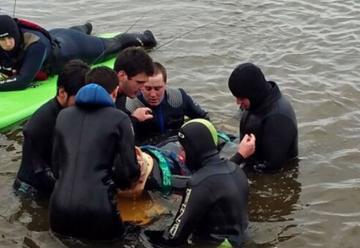 Federación de Bomberos de La Pampa dictó un curso de rescate en agua