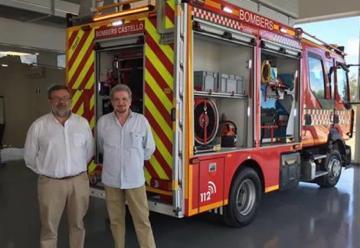 Incorporan camión de bomberos para vías estrechas