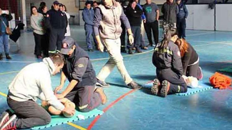 Bomberos Voluntarios se capacitaron en Pilcaniyeu