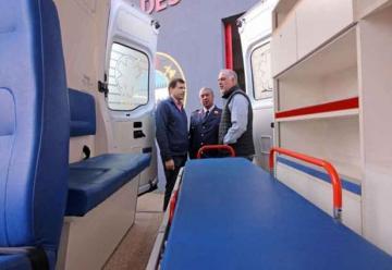 Bomberos Voluntarios de Mar del Tuyú con ambulancia nueva