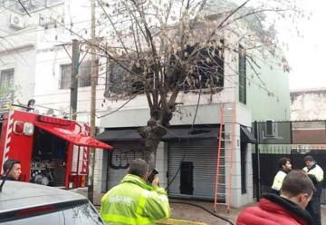 Incendio en un depósito de ropa en Quilmes Centro