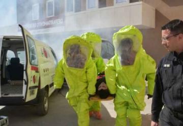 Bomberos se capacitaron sobre manejo de materiales peligrosos