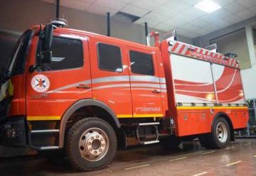 Primera compañía de Bomberos Rengo cuenta con nuevo carro