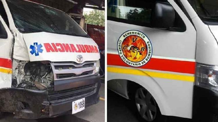 Reparan ambulancia que chocó por atender emergencia falsa